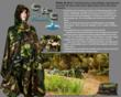Composite image: e-brochure for Camo Rain Cape.